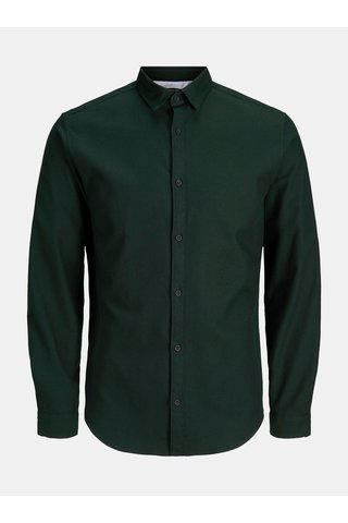 Camasa verde inchis informala slim fit Jack & Jones Ray