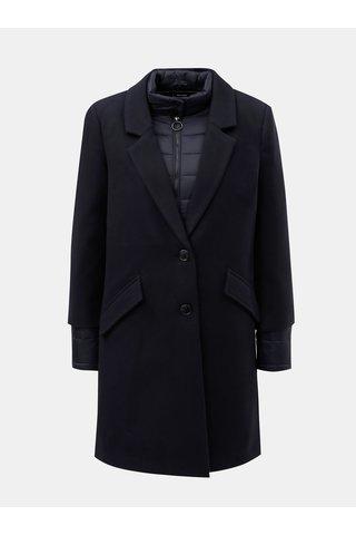 Pardesiu albastru inchis cu jacheta lejera matlasata 2 in 1 VERO MODA Two