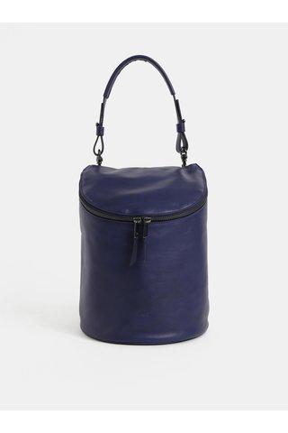 Tmavě modrý kožený batoh/kabelka BREE