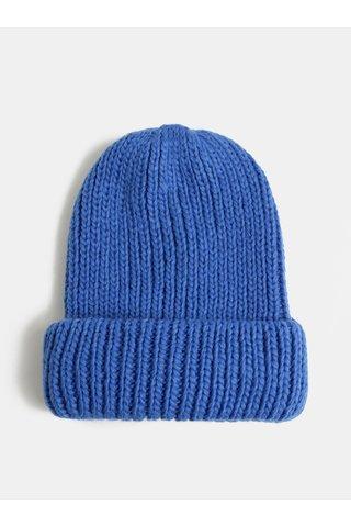 Modrá pletená čepice Pieces Flava