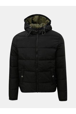 Černá pánská prošívaná zimní bunda s.Oliver