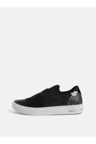 Pantofi slip on negri din piele DKNY Clemson