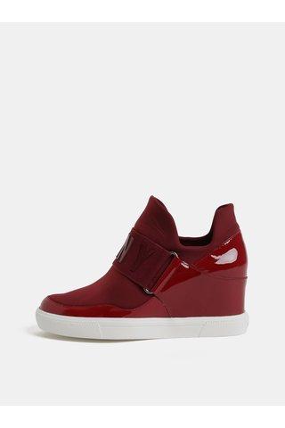 Pantofi sport bordo cu platforma wedge DKNY Cosmos