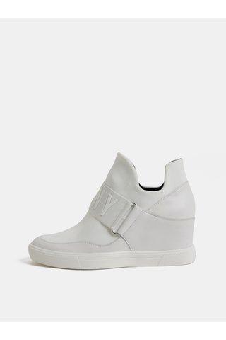 Pantofi sport albi cu platforma wedge DKNY Cosmos