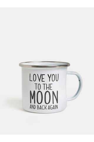 Bílý plechový hrnek Sass & Belle Love You to the Moon