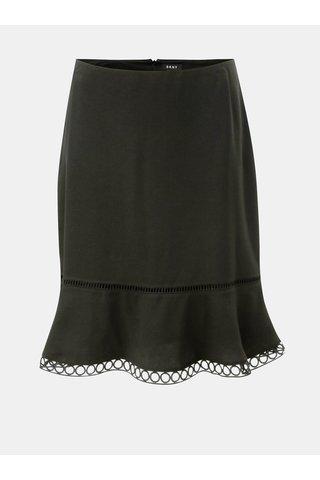Černá sukně s krajkovým lemem DKNY