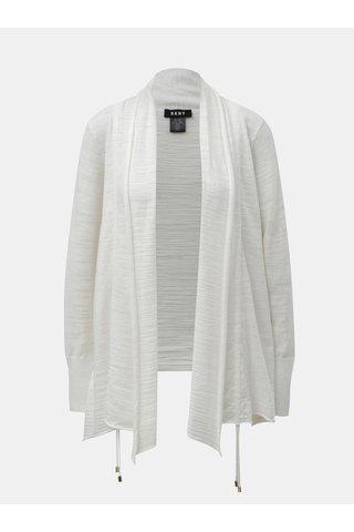 Cardigan alb cu snuri laterale DKNY