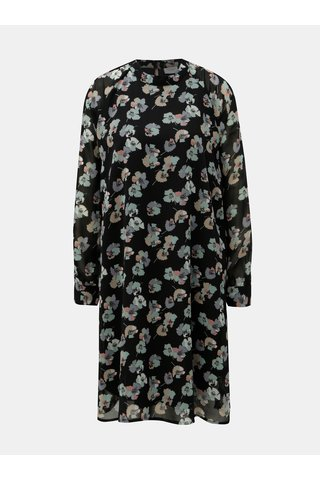 Rochie neagra florala cu maneci lungi ONLY Jacqueline de Yong Hanna