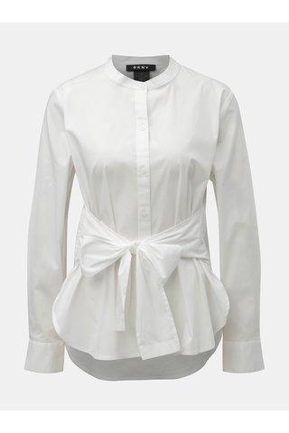 Bílá košile s mašlí DKNY