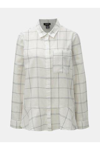 Camasa alba in carouri DKNY Button