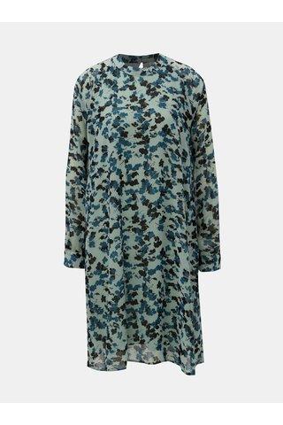 Rochie mentol florala cu maneci lungi ONLY Jacqueline de Yong Hanna