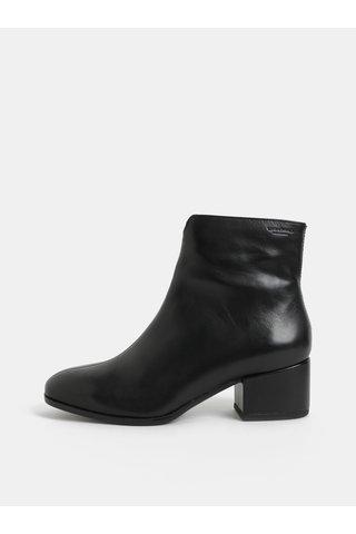 Černé dámské kožené kotníkové boty na nízkém podpatku Vagabond Daisy