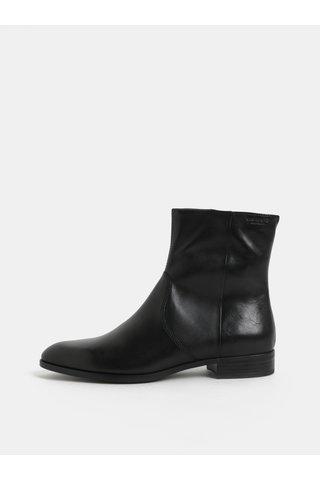 Černé dámské kožené kotníkové boty Vagabond Frances Sister