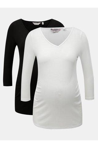 Set de 2 tricouri alb si negru pentru femei insarcinate Dorothy Perkins Maternity