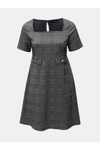 Šedé vzorované šaty s hranatým výstřihem Dorothy Perkins Curve
