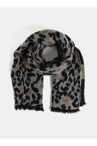 Fular gri-negru cu motiv ghepard Dorothy Perkins