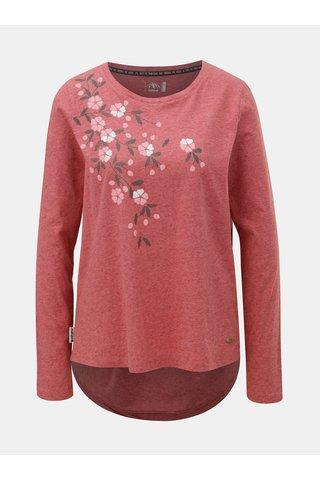 Tricou de dama rosu melanj cu amestec de in Maloja Barnaba