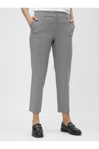 Šedé kostkované zkrácené chino kalhoty s vysokým pasem Dorothy Perkins