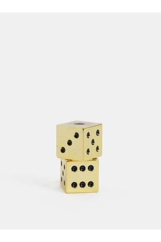 Sada dvou hracích kostek ve zlaté barvě Iron & Glory by Luckies Let It Roll