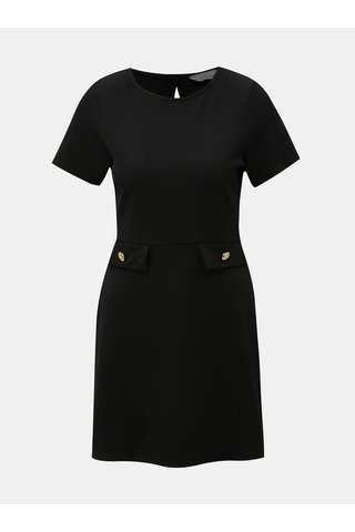 Rochie neagra cu detalii aurii Dorothy Perkins Petite