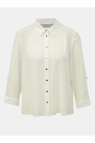 Bluza alba cu nasturi argintii Dorothy Perkins Petite