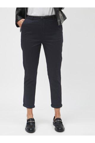 Pantaloni chino albastru inchis cu talie inalta Scotch & Soda