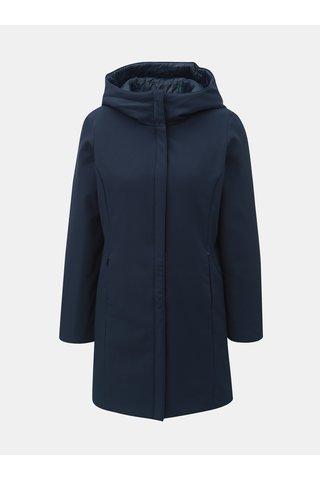 Tmavě modrý oboustranný kabát s kapucí VERO MODA Reversible