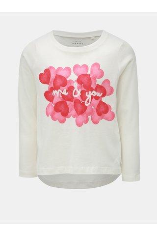 Bílé holčičí tričko s potiskem Name it