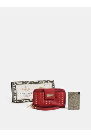 Set cadou de portofel rosu cu powerbank 2000 mAh Something Special