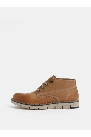 Světle hnědé pánské kožené kotníkové boty Weinbrenner