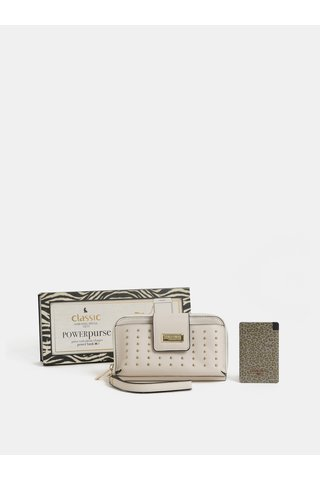 Set cadou de portofel crem cu powerbank 2000 mAh Something Special