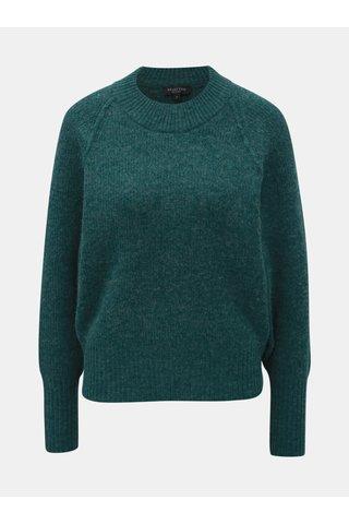 Pulover verde cu amestec de lana Selected Femme Ena