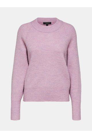 Pulover roz cu amestec de lana Selected Femme Ena