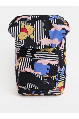 Černý batoh s motivem Medvídka Pú Femi Stories Lono