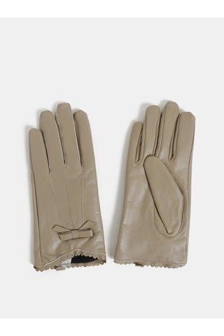 Béžové kožené rukavice v dárkovém balení Something Special