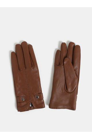 Hnědé kožené rukavice v dárkovém balení Something Special