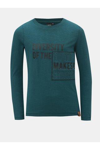 Tmavě zelené tričko s nápisem LIMITED by name it