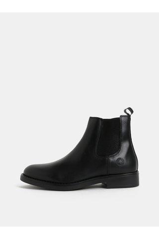 Černé pánské kožené chelsea boty Bullboxer