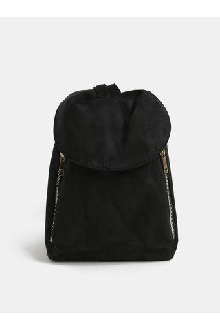 Rucsac/geanta neagra cu aspect de piele intoarsa Pieces Kamea