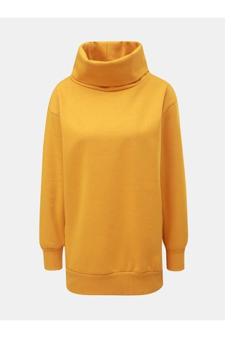 Bluza sport lunga oranj cu guler ONLY Jenny