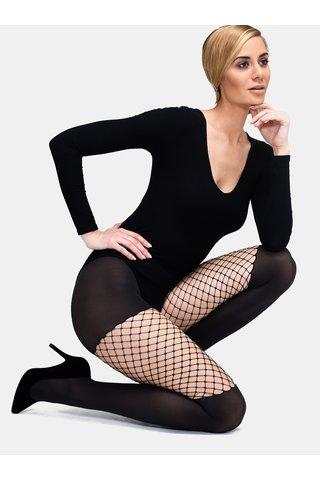 Ciorapi negri cu detaliu din plasa Andrea Bucci Opaque With Net 60 NET