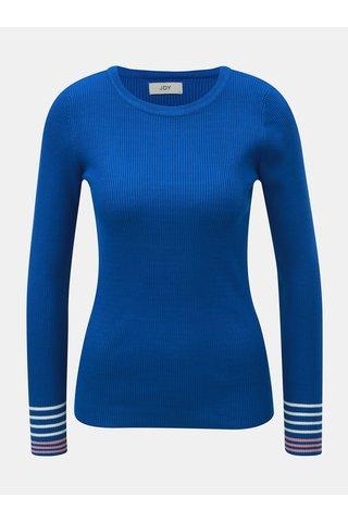 Pulover albastru cu striatii si dungi pe maneci Jacqueline de Yong Tracy