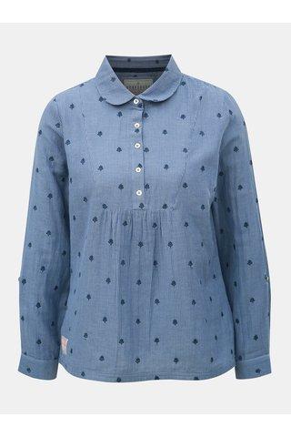 Bluza albastra in dungi de dama cu broderie discret Brakeburn
