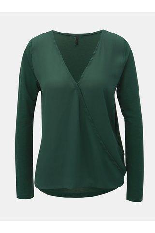 Bluza verde inchis cu partea din fata suprapusa ONLY Palma