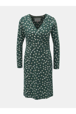 Rochie verde florala cu maneci lungi Brakeburn