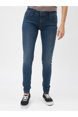 Blugi albastri de dama super skinny Levi's® 710