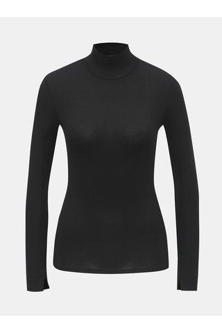Tricou negru cu guler inalt TALLY WEiJL