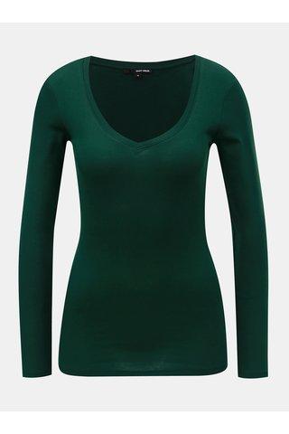 Tricou basic verde inchis cu maneci lungi TALLY WEiJL