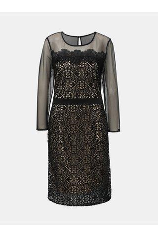Rochie crem-negru din dantela si detalii transparenti Dorothy Perkins