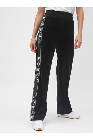 Pantaloni sport negri catifelati cu dung TALLY WEiJL